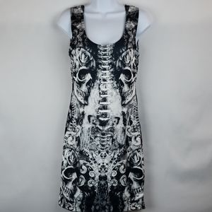 Glance By Evoke Boutique XRay Skull Dress Sz S